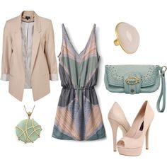 Blush & Seafoam, created by michele51983.polyvore.com