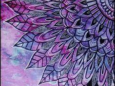 Doodles on Painted Paper #Doodle #Doodling #Mandala