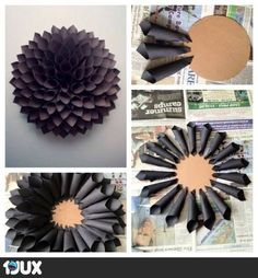 paperikukka mustana