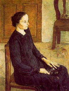 Mujer sentada. 1954. Obra de Antonio López García