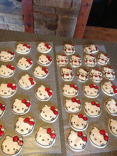 Cookies for Hello kitty tea party birthday