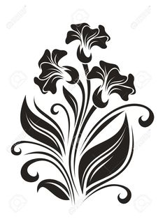 Fiori Ornamento. Illustrazione. Clipart Royalty-free, Vettori E Illustrator Stock. Image 19594909.