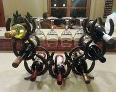 Pequeño estante de herradura vino de Potranca. por HorseshoeRacks