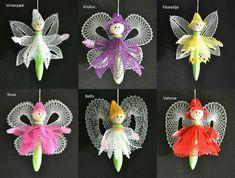 alfer-med-navn Bobbin Lace, Crochet Earrings, Christmas Ornaments, Holiday Decor, Inspiration, Angeles, Workshop, Flowers, Lace