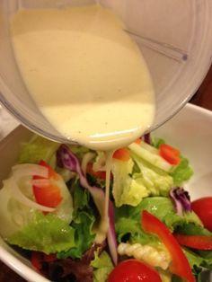 Eating Dinner With My Family: Creamy Garlic Vinaigrette Vinaigrette Dressing, Salad Dressing Recipes, Salad Dressings, Yummy Eats, Yummy Food, Fast Recipes, Cooking Recipes, Sauce Recipes, Bobby Flay Recipes