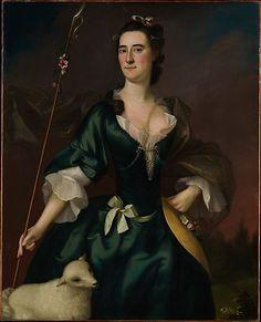 """Mary Sylvester"", Joseph Blackburn, 1754; MMA 16.68.2"