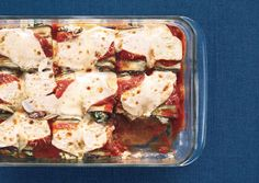 Eggplant Parmesan Rolls with Swiss Chard and Fresh Mint