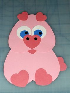 Cute Piggy Valentine made with paper punches from Creative Memories. Valentine Day Crafts, Valentines Day Crafts For Preschoolers, Preschool Crafts, Valentine Theme, Daycare Crafts, Valentines Day Activities, Homemade Valentines, Valentines Day Decorations, Toddler Arts And Crafts