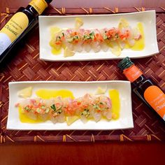 chefお勧めフレーバーオリーブを頂いたのでやっと食べられました˖˚ ͙ෆ*( ໊੭ु˃̶͈౿˂̶͈)੭ु⁾⁾ 皆様ありがとうございます✨ か 家族にも美味しさお裾分け - 130件のもぐもぐ - Carpaccio of sea bream鯛のカルパッチョ by honeybunnyb