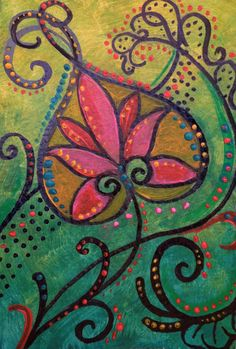 Mini Floral Painting comes framed and ready to by PetrocyStudios  Check out the Black Friday and Cyber Monday Sales
