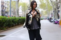 Who What Wear Blog 11 Ways To Style An Embroidered Bomber Jacket Jayne Min Stop It Right Now Via Zara People