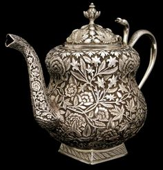 Antique Silver Teapot, Kashmir, India