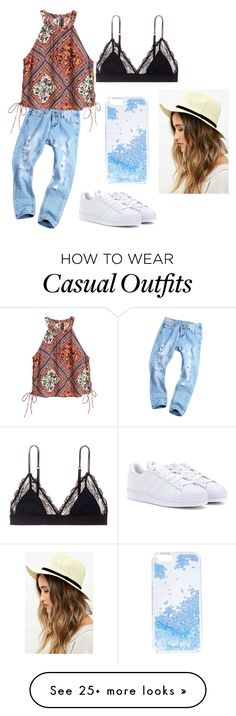 """""""Casual #117"""" by kkmahony on Polyvore featuring adidas, LoveStories, LULUS and Skinnydip"""