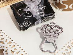 Royal Crown Bottle Opener for FairyTale theme wedding or party #crown #bottleopener