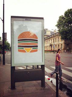 McDonald Ads in Paris