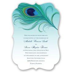 Passionate Peacock - Invitation