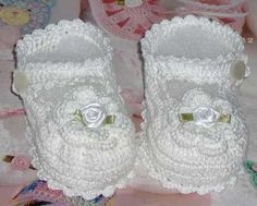 Crochet Mary Jane Baby Booties by mycrochetboutique on Etsy, $7.50  These cute little booties will make a great baby shower gift for an expecting mother. They are hand crocheted from 100% cotton thread and are perfect for a dressy occasion or everyday wear. They measure 3.25 inches from heel to toe. Custom order only. Please allow 2 days for item to be completed.