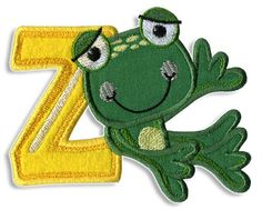 Adorable Frog font - Cute Alphabets - Embroidery Fonts