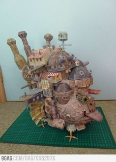 Howls Moving Castle made from paper