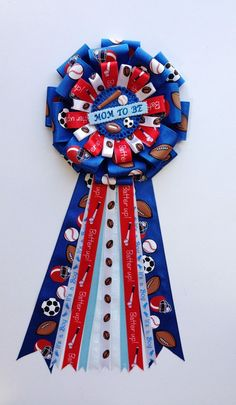 baby sports | Mom to Be Pin All Star Sports Theme Baby Shower by LezlieZDesigns, $17 ...