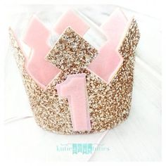 We're all about the sparkle || Gold Glittery Birthday Crown from Kutiebowtuties on Etsy