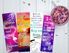 Printable bookmark printable quote bookmark gift for her image 9 Watercolor Bookmarks, Quotes For Book Lovers, Printable Quotes, Printable Bookmarks, Gifts For Readers, Good Books, Gifts For Her, Printables, Etsy