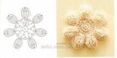 вязаные цветы - 000032