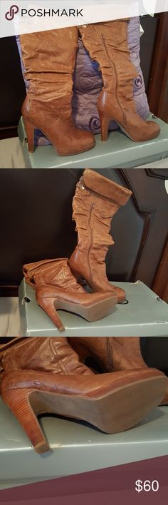 Boots Authentiv Genuine Leather Jessica Simpson tall boots. Like new very comfortable looks great with a pair of jeans. Jessica Simpson Shoes Over the Knee Boots