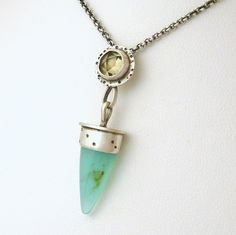 Sea, Sun and Sand - Peruvian Blue Opal and Lemon Quartz handmade sterling silver necklace by SCJ Jewelry Design, via Flickr