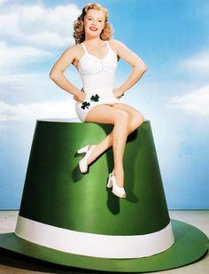 June Haver c. 1940's (via vintage everyday: Vintage St. Patrick's Day Pin-ups)