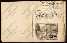 Citation: Sketchbook of Margaret Casey Gates, 1934-1940 . Margaret Casey Gates papers, Archives of American Art, Smithsonian Institution.