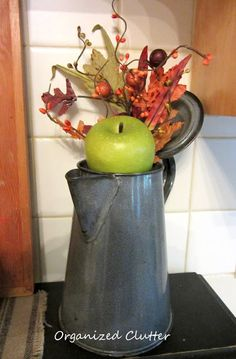Granite Ware Fall Coffee Pot