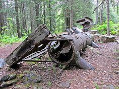 #hiking Locomotive wreck in #Yoho #BC #Canada