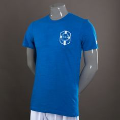 Football Tees - Nike Brasil Covert T-Shirt - Replica Clothing - Military  Blue Military 2b6b86244ddb3