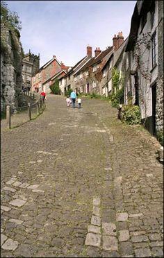 Gold Hill Shaftesbury in Dorset, UK