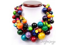 The charming necklace with linen thread (flax yarn) and wooden beads. Necklace is very light. Adjustable chain length 45cm - 55cm metal components and fasteners are non-allergenic!