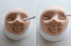 Cómo modelar una cara con fondant y pasta de goma