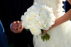 the bride's peony bouquet.