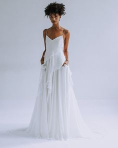 """76 Pretty Wedding Dresses with Pockets. These bridal gowns let you """"to have and to hold,"""" well, anything you want, Pretty Wedding Dresses with Pockets. Leanne Marshall Wedding Dresses, Pretty Wedding Dresses, Wedding Dress With Veil, Wedding Dress With Pockets, Wedding Dress Trends, Bridal Dresses, Bridal Collection, Dress Collection, After Life"""