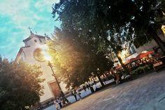 Sunset in Santo Spirito square! #loveFlorence