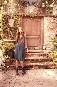 Ella Moss Lace Inset Blouse & Skirt   Nordstrom - StyleSays