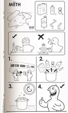 """""""If Ikea Made Instructions for Everything"""" by Susanna Wolff and Caldwell Tanner - CollegeHumor Article"""