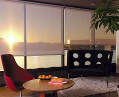 Sunscreen roller blinds reduce the suns glare  whilst still allowing you to enjoy the view. The best of both worlds.