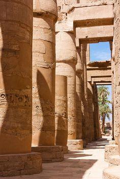 The great Karnak Temple, Luxor, Egypt.