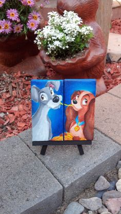 custom+disney+canvas+set+of+two+made+to+order+by+Jaysart+on+Etsy,+$30.00