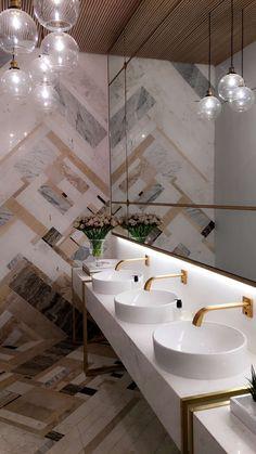 Casa Cor 30 Anos Banheiro Feminino Red Gold Deca Ame Arquitetura