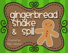 Gingerbread man shake and spill mats - FREE