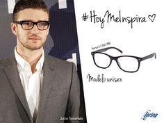 Gafas de pasta negras. Inspiración: Justin Timberlake.