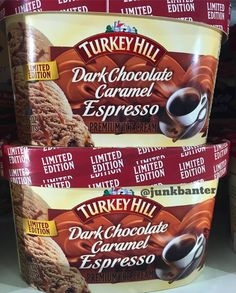 Best ice cream ever!at least from the store.homemade is a different story. Espresso Ice Cream, Vanilla Ice Cream, Turkey Hill, Best Ice Cream, Flameless Candles, Chocolate, Caramel, Pumpkin, Homemade