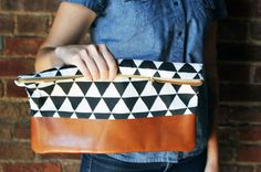 Cotton + Leather   24 DIY Clutches